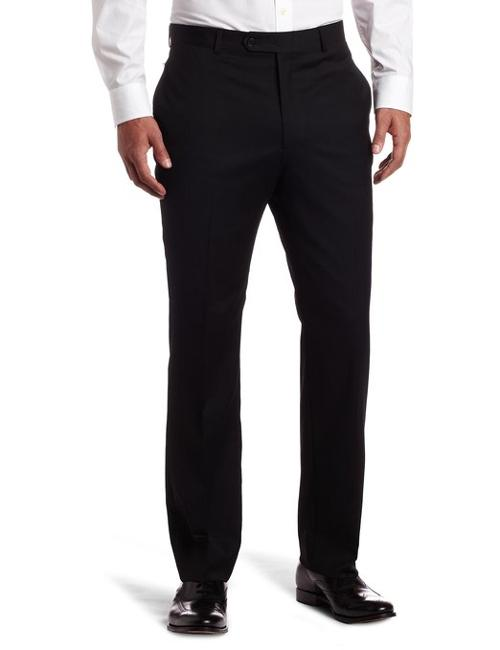 Men's Flat Front Trim Fit 100% Wool Suit Separate Pant by Tommy Hilfiger in Wish I Was Here