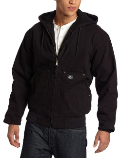 Premium Duck Insulated Fleece-Lined Hooded Jacket by Polar King in The D Train