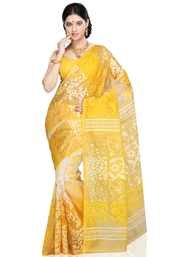 Handloom Cotton and Silk Saree with Blouse by Utsav Fashion in The Second Best Exotic Marigold Hotel