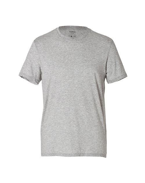 Cotton Crew Neck T-Shirt in Grey by VINCE in Million Dollar Arm