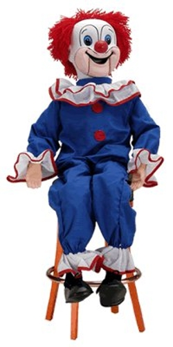 Bozo the Clown Ventriloquist Doll by Goldberger Doll Mfg. Co. in Poltergeist