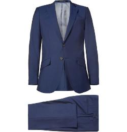 Blue Wool And Mohair-Blend Suit by Richard James in Lucy