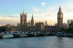 London, United Kingdom by Palace of Westminster in Fast & Furious 6
