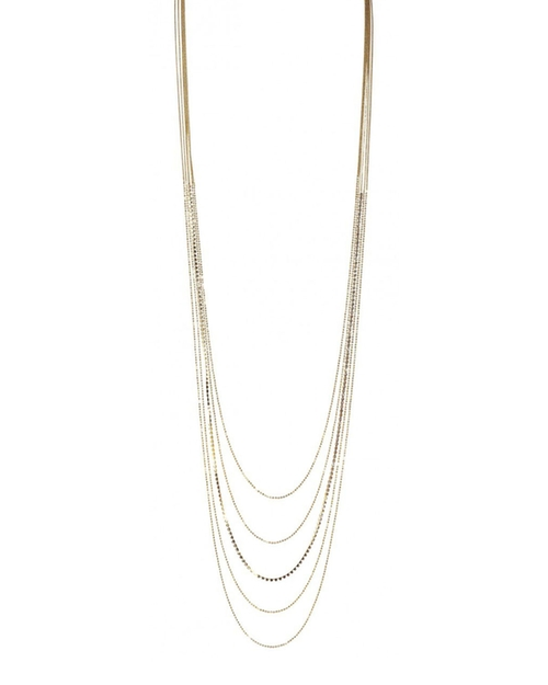 Layered Chain & Cubic Zirconia Necklace by Lisa Freede in Jem and the Holograms
