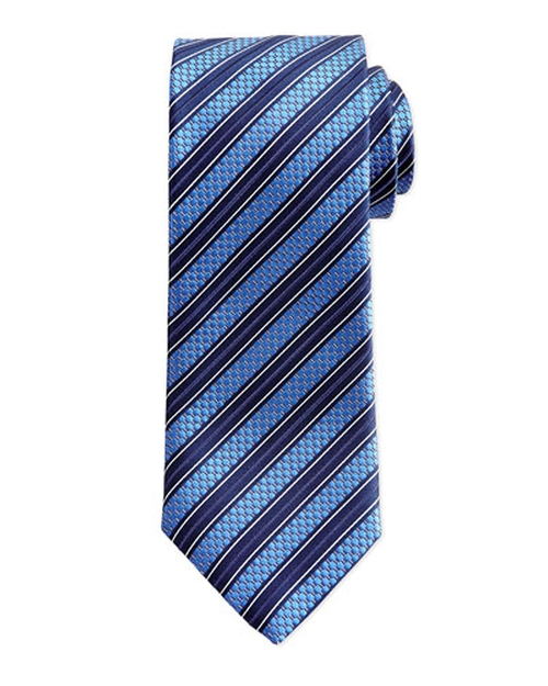 Texture-Stripe Tie by Ermenegildo Zegna in Suits - Season 5 Episode 4
