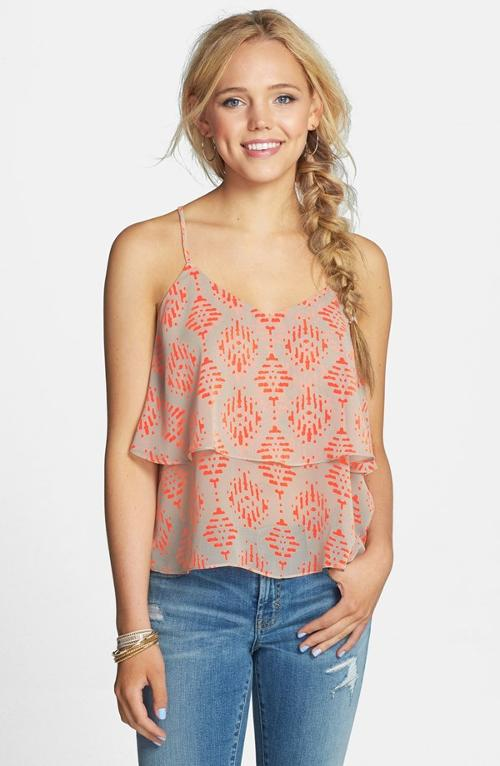 Print Layered Racerback Tank by Painted Threads in What If
