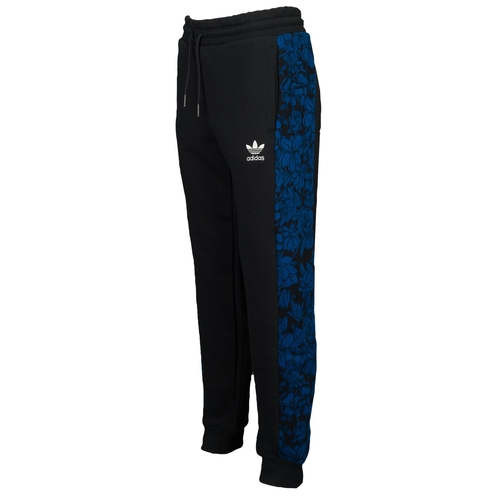 Blue Floral Cuffed Track Pants by Adidas Originals in Keeping Up With The Kardashians - Season 12 Episode 7