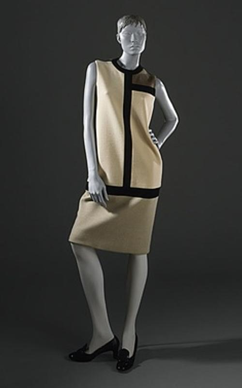 Mondrian Dress (Gray) by Yves Saint Laurent in Yves Saint Laurent