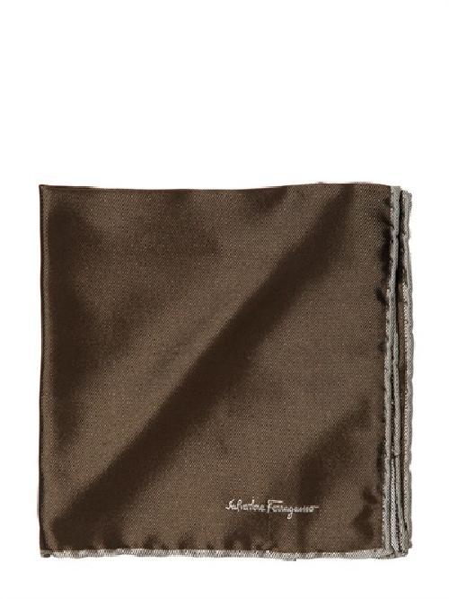 Silk Jacquard Pocket Square by Salvatore Ferragamo in The Great Gatsby