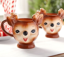 Cheeky Reindeer Mug by Pottery Barn in The Flash