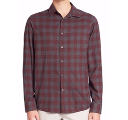 Enzo Slim-Fit Checkered Shirt by Michael Kors in Lethal Weapon