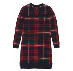 Plaid V-Neck Sweater Dress by Tommy Hilfiger in Office Christmas Party