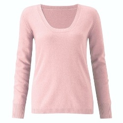 Scoop Neck Cashmere Sweater by Scott & Scott London in Mean Girls