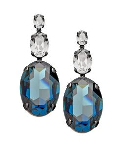 Crystal Double-Drop Earrings by Janis Savitt Montana in The Other Woman