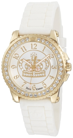 Pedigree White Jelly Strap Watch by Juicy Couture in Ballers