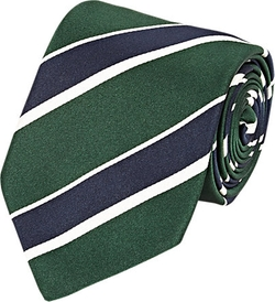 Striped Silk Necktie by Bigi in Life