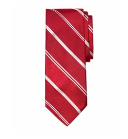 Mixed Weave Alternating Stripe Tie by Brooks Brothers in Snowden
