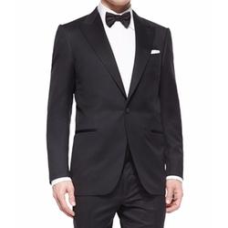 Peak-Lapel One-Button Wool Tuxedo by Ermenegildo Zegna in Suits