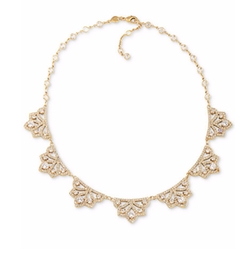 Gold-Tone Filigree Crystal Collar Necklace by Carolee  in The Flash