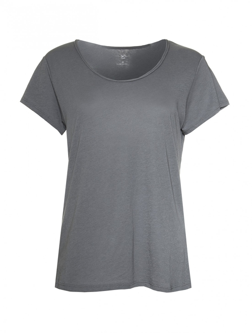 Short-Sleeve Modal Scoop Neck Tee by Scoop in The Forest