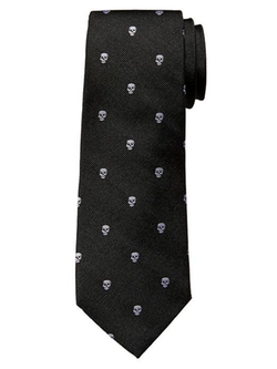 Skull Print Silk Tie by Banana Republic in Bridge of Spies