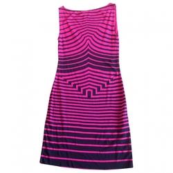 Pink Stripe Viscose Dress by Alexander McQueen  in Neighbors 2: Sorority Rising