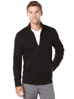 Slub Textured Full Zip Jacket by Perry Ellis in The Program
