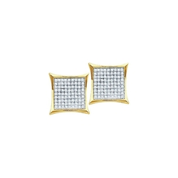 Diamond Fancy Square Stud Earrings by Precious Gem Jewellers in Ballers