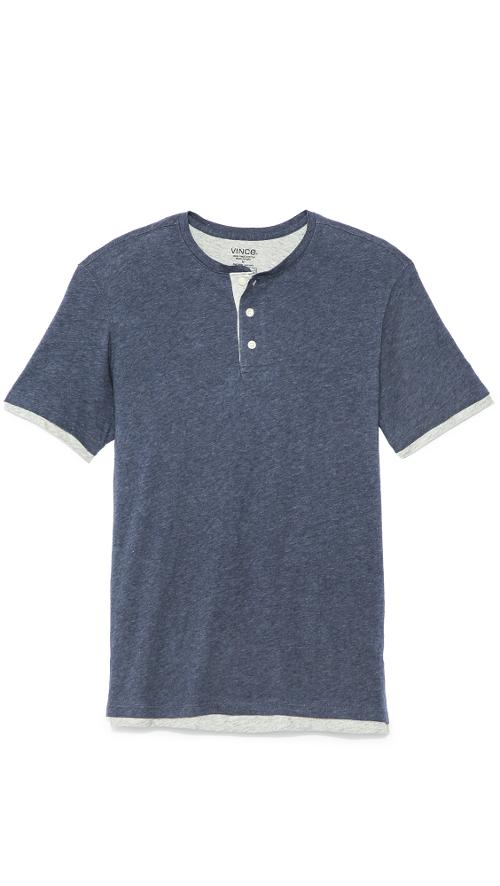 Double Layer Henley by Vince in Project Almanac