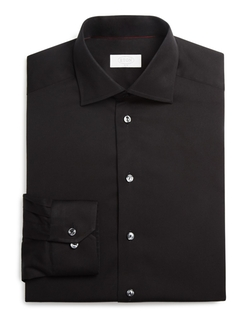 Twill Solid Slim Fit Dress Shirt by Eton Of Sweden in Ride Along 2