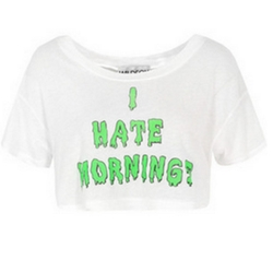 I Hate Mornings Trailer Tee Shirt by Wildfox Couture in Spring Breakers