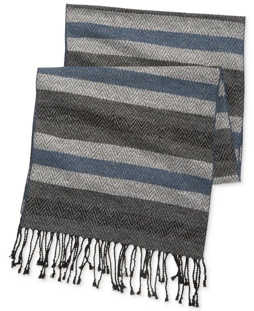 Herringbone Stripe Scarf by Club Room in Thor
