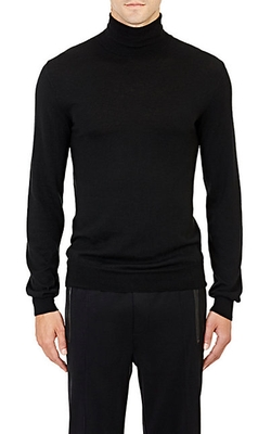 Fine-Gauge Knit Turtleneck Sweater by Ralph Lauren Black Label in Steve Jobs
