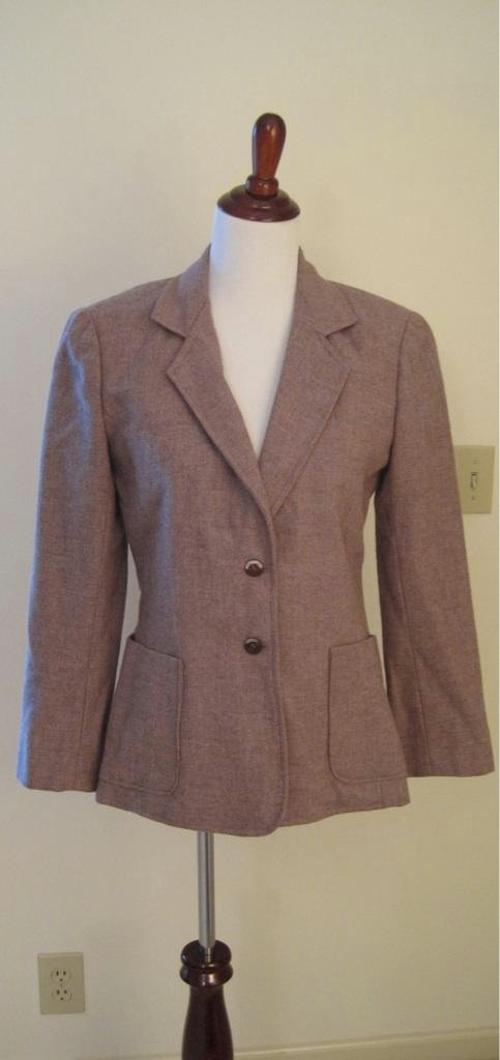 Women's Vintage Purple Tweed Blazer by Bonanza in Get On Up