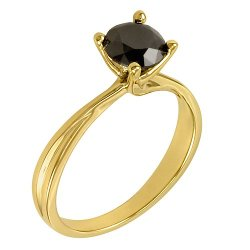 Black Diamond Solitaire Ring by Amazon Curated Collection in Pitch Perfect 2