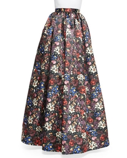 Tina Floral-Print Ball Skirt by Alice + Olivia in Pretty Little Liars