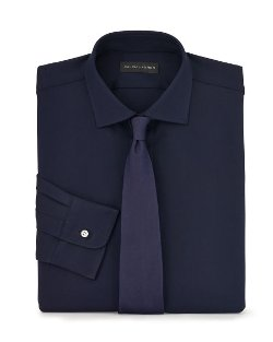Stretch Wool Twill Dress Shirt by Ralph Lauren in The Gambler