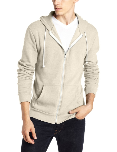Men's Triblend Zip-Front Hoodie Jacket by Threads 4 Thought in The Big Lebowski