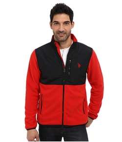 Full Zip Polar Fleece Jacket by U.S. Polo Assn. in Eddie The Eagle