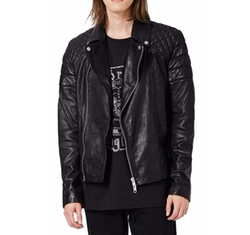 Quilted Leather Biker Jacket by Topman in The Fate of the Furious