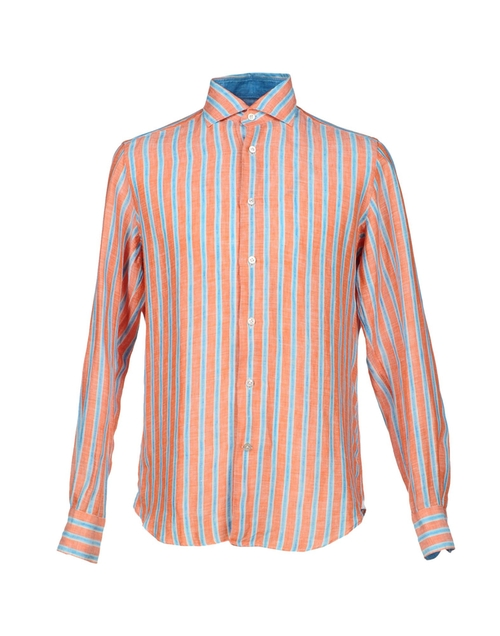 Striped Long Sleeve Button Shirt by Giannetto in Modern Family - Season 7 Episode 1