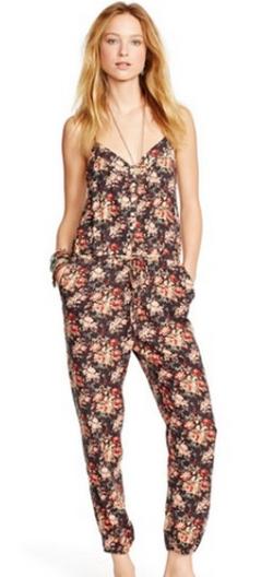 Floral-Print Racerback Jumpsuit by Ralph Lauren in Pretty Little Liars