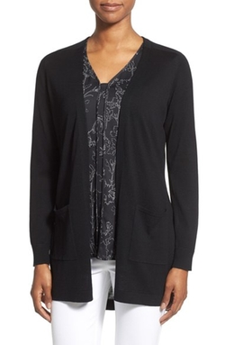 'Harper' Silk & Cotton Open Front Cardigan by Classiques Entier in Free State of Jones