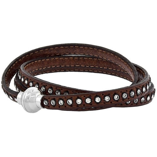 Swarovski Crystal Inlay Leather Bracelet by Sabrina Silver in Empire - Season 2 Episode 7