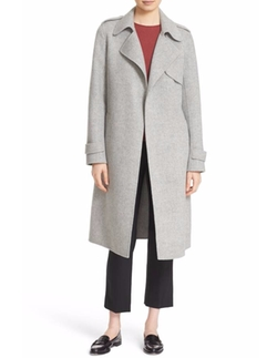 'Oaklane DF New Divid' Wool & Cashmere Trench Coat by Theory in Gypsy
