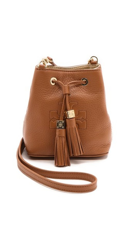 Thea Mini Bucket Cross Body Bag by Tory Burch in Drive