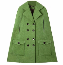 Batwing Style Sleeveless Green Coat by Romwe in Gossip Girl