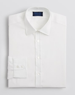 Solid Royal Oxford Dress Shirt by Hilditch & Key in Self/Less