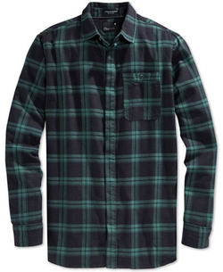 Plaid Long Sleeve Button-Front Shirt by Tavik Watts in The Accountant
