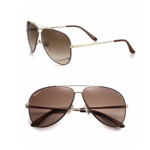Classic Aviator Sunglasses by Salvatore Ferragamo in The Fate of the Furious
